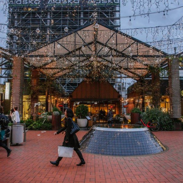 People shopping in the Pavilions in Britomart, Auckland's city centre. Image: Sacha Stejko