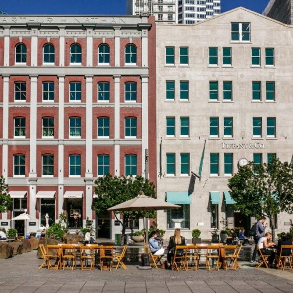 Redeveloped heritage Australis and Nathan buildings in Britomart in Auckland's city centre. Image: Sacha Stejko