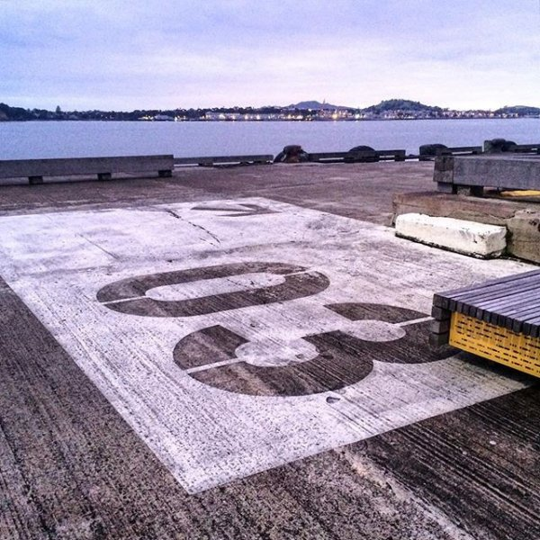 End of Queens Wharf in Auckland's city centre. Image: Lisa_Whyte