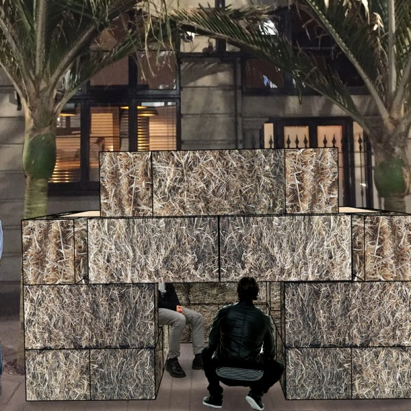 Artist's impression of Seth Schanzer's Mausoleum for Urban Art Village, Artweek 2018 in Auckland's city centre. Image: Seth Schanzer.