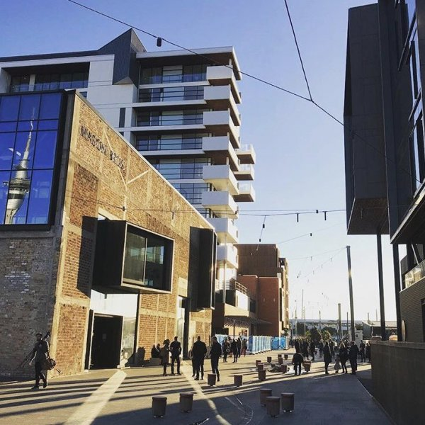 Tiramarama Way in Auckland city centre's Wynyard Quarter. Image: Tom Locke, @warrenmahoney