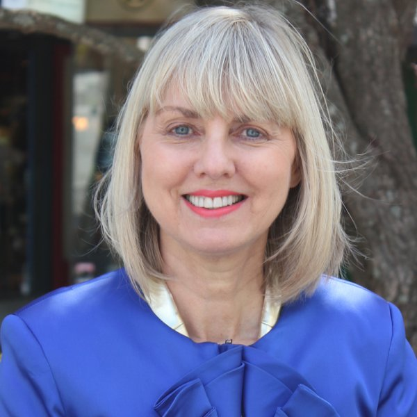 Viv Beck, Heart of the City CEO, in Freyberg Place in Auckland city centre's High Street District. Image: Heart of the City