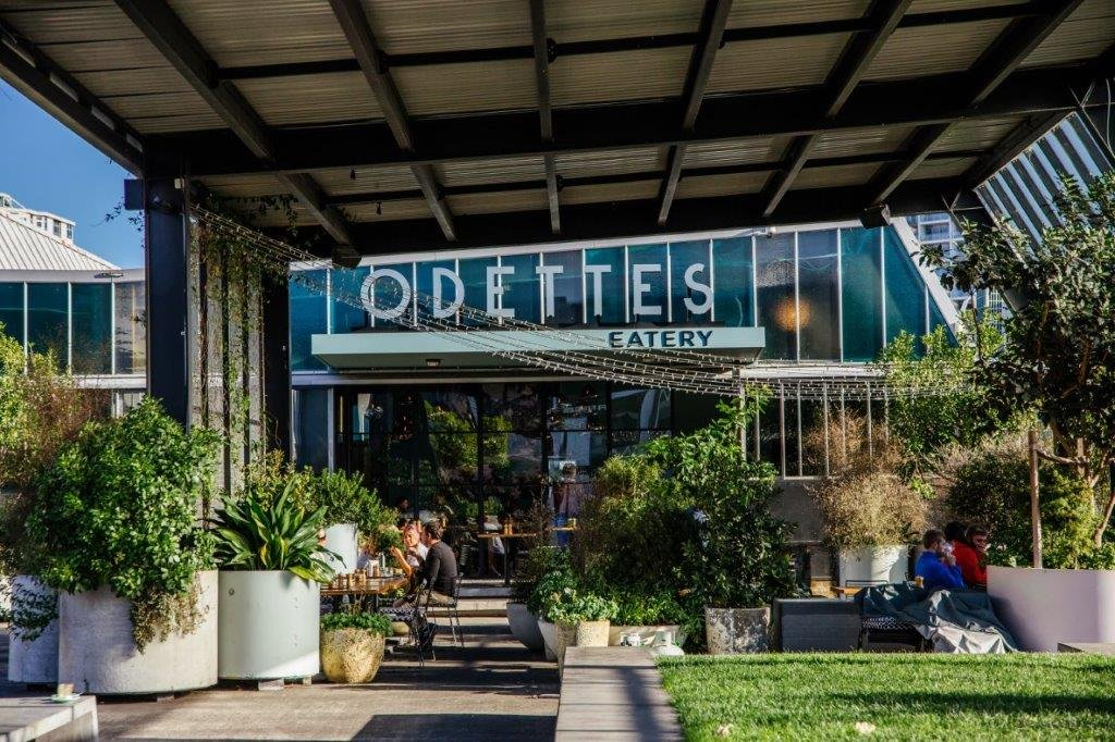 Odettes restaurant in City Works Depot, Auckland's city centre. Image: Sacha Stejko.