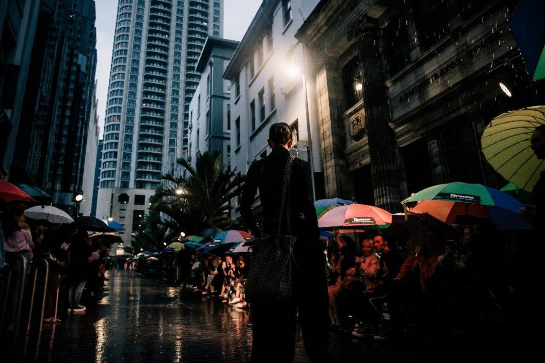 Ingrid Starnes fashion show for 4 Days of Fashion 2018 in Auckland's city centre. Image: Sacha Stejko