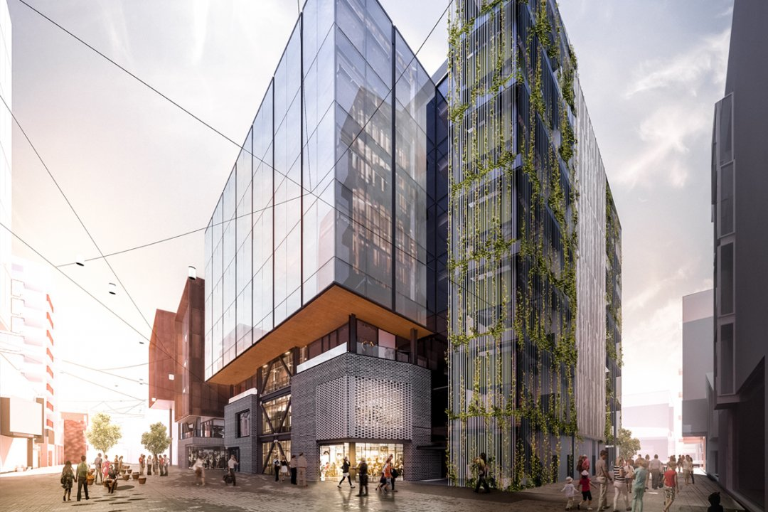 Artist's impression of 10 Madden Street, the next Precinct Properties development in the works for Wynyard Quarter's Innovation Precinct in Auckland's city centre. Image: Precinct Properties